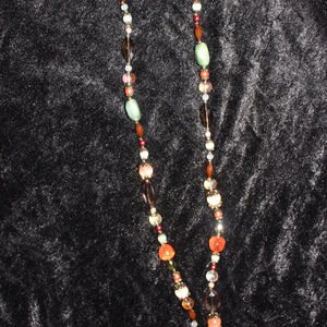 Assorted stone colored necklace